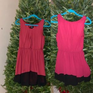 Red and black holiday dress